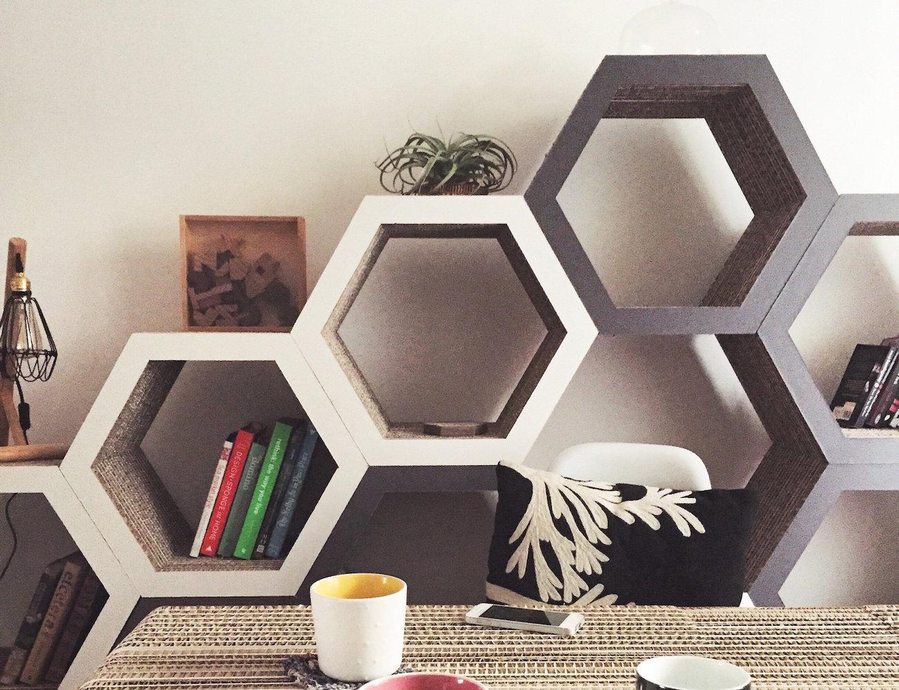 Honingraat boekenkast