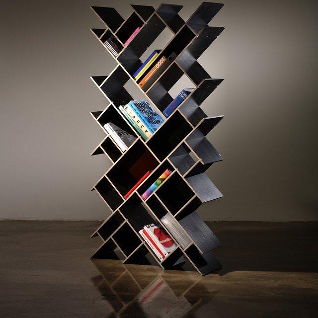 Geometrische boekenkast