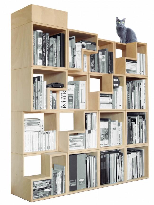 houten boekenkast