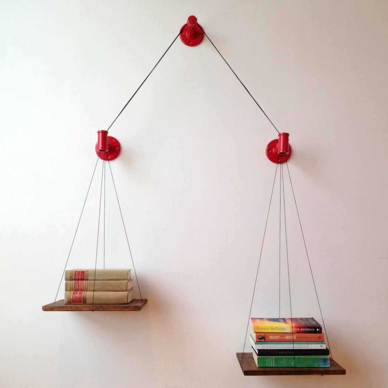 Boekenplak weegschaal