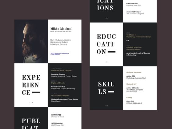 Resume by Mikha Makhoul