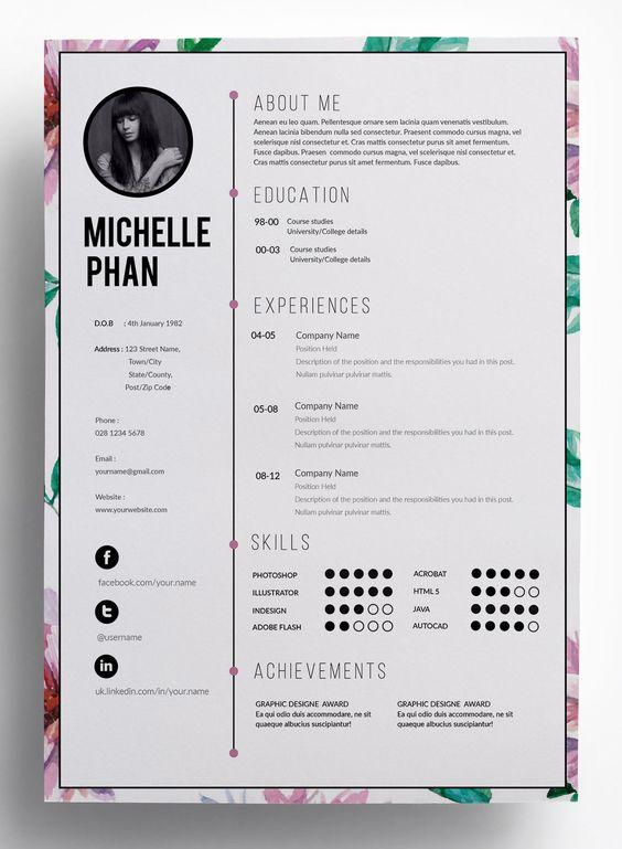 Floral resume