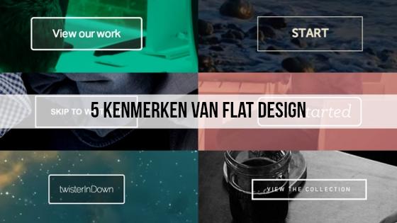 5 Kenmerken van flat design